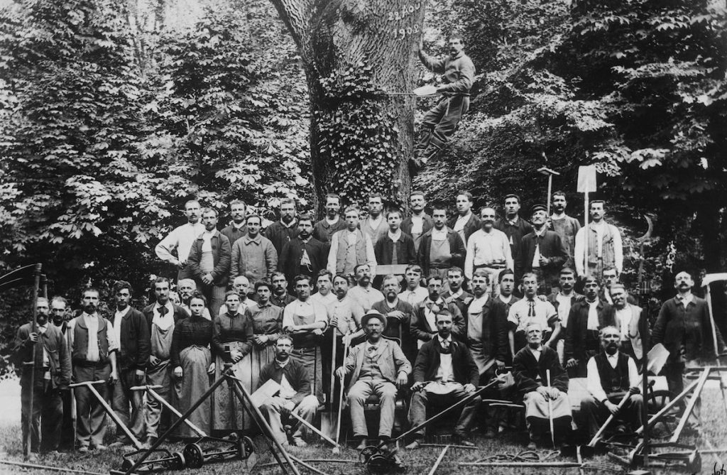 Henri Duchêne et son équipe de jardiniers