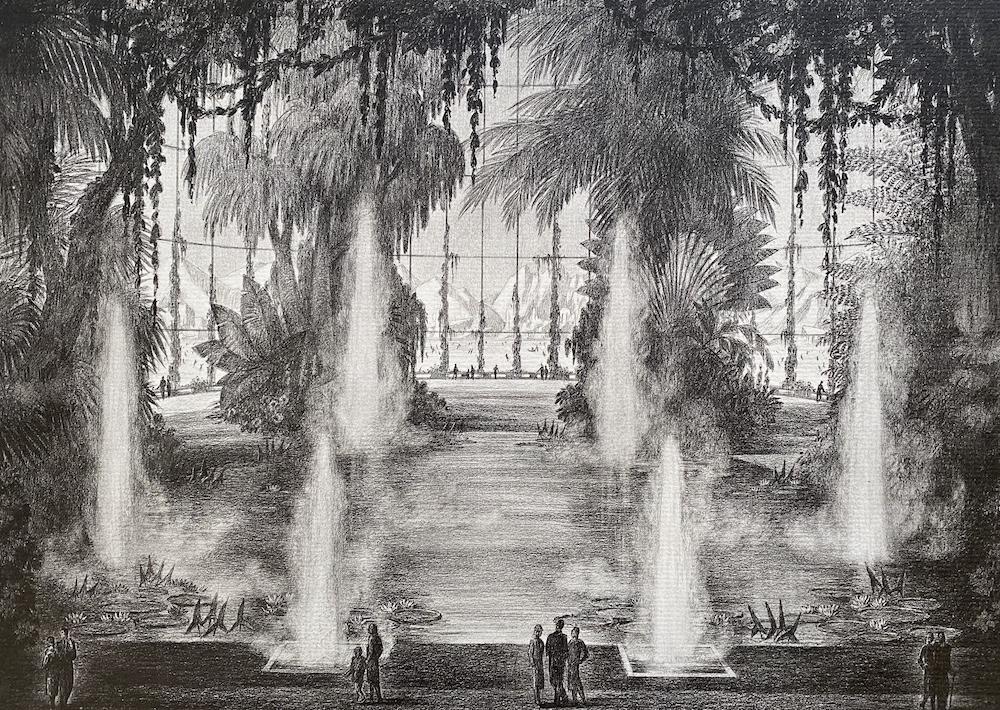 Jardins de rêve dessin de Achille Duchêne